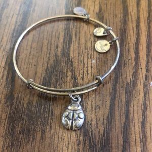 Alex and Ani Gold ladybug bracelet